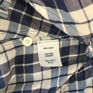 Madewell Tops - Madewell blue plaid open back central courier top